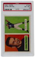 Johnny Unitas 1957 Topps #138 Baltimore Colts Football Card PSA EM-MT6