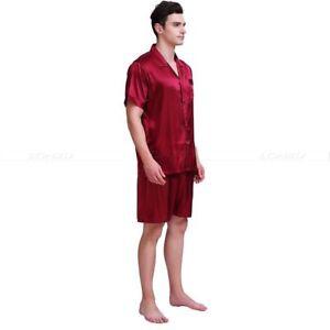Mens Silk Satin Short Pajamas Set  pajamas for men Silk sleepwear__For XMAS Gift