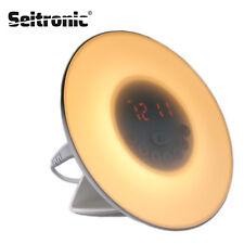 Wake up Light Stimungs-Licht-Wecker Kinder-Radiowecker Sonnenaufgangfunktion RGB