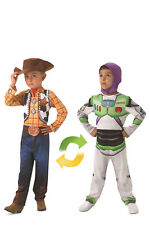 Woody to Buzz Lightyear Deluxe Reversible Costume Halloween Party Fancy Dress Small (3 )