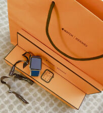 Authentic!! Hermes Series 4 Indigo 44mm Band Only.