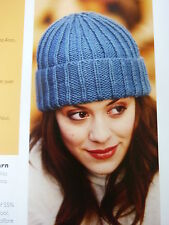 Knitting Pattern To Knit  Lady's Simple Ribbed Hat Using Aran Wool.
