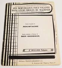 Partition vintage sheet music MOUSTACHE / RON GOODWIN : Ces Merveilleux * 60's