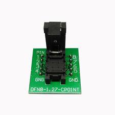 QFN8 DFN8 WSON8 Probe Pogo Pin Test Socket Adapter Pitch 1.27mm IC Size 6x8mm