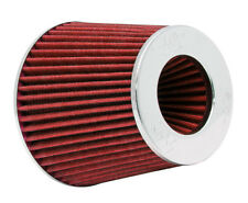 K&N (RG-1001RD) Universal Air Filter Chrome Round Tapered Red