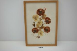 alt DDR Wandbild Gräßer getrocknet HV Hemmerling Vogel Collagen Blüten #214936