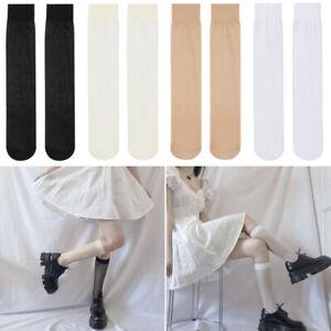 Transparent Girls Sexy Over Calf High Women's Socks Stockings Long Socks