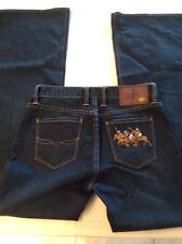 RALPH LAUREN DELANCEY 740 Embroidered WOMENS SIZE 27 Dark Wash Boot Cut Polo Jea