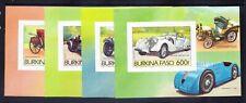 More details for burkina faso 1985 michel b103/10  cars & planes 8 x mini-sheets imp u/m c90 euro