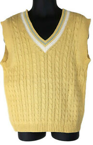 IMP Originals Boys Sweater Vest Yellow 4 V-Neck Easter Holiday Occasion Spring