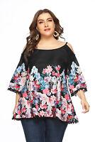 Women Floral Print Casual Top Summer Blouse Ladies Plus Size T-Shirt 1X-5X Tops