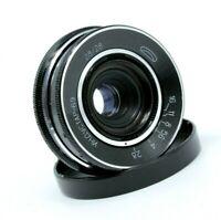 Vintage LEICA m39 INDUSTAR 69 f 28mm 1:2.8 Pancake Lens Nice Soviet USSR I69