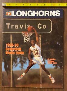 HTF 1989-90 UT Texas Longhorns Basketball Media Guide (Penders/Mays/Blanks) NM
