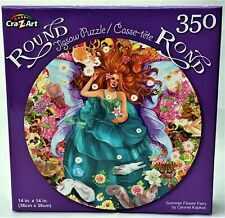 "Summer Flower Fairy Jigsaw Puzzle 350 Piece 14"" x 14"" Round"