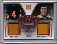 BOBBY ORR PHIL ESPOSITO 17/18 Leaf In The Game-Used Dynamic Duos Jersey #d 18/25