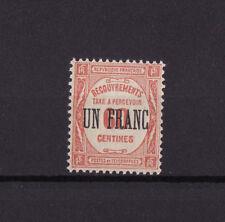 timbre France TAXE   UN FRANC   sur 60c rouge      num: 63  tbc  **