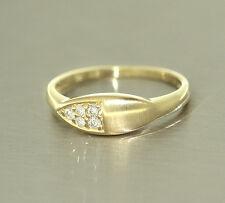 Brillantring - Goldring 585 mit Brillanten 0,12 ct. - Ring Gold - edles Design