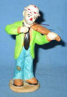 "Flambro Emmett Kelly Jr ""Playing Violin"" Musician Figurine - FREE SHIPPING"