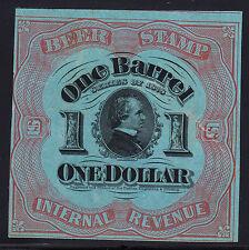 US REA42e Revenue Beer Stamp SCV $125