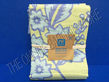 Pottery Barn Teen Garden Party Organic Bed Duvet Cover Full Queen FQ Periwinkle