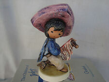 "DeGrazia's ""MY FIRST HORSE"" Figurine Retired 5.75"" Tall Goebel Germany NIB MINT"