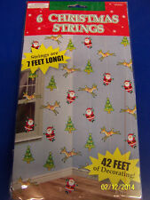 Santa Claus Reindeer Tree Christmas Holiday Party Hanging String Decorations