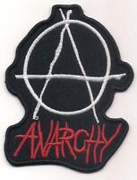 ANARCHY (Punk rock metal biker logo patch) 7x9 Cm