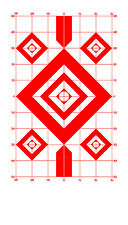 Red Diamond Sighting-In Pistol & Rifle Paper Shooting Targets - 8x14 - 135 Qty.