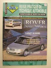 Revue pratique de technique automobile RTA Rover 200 après 1996 ess et die