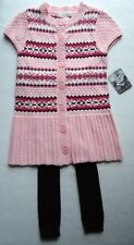 Girls 2T Sweater Dress Tunic Footless Tights Set Outfit Fair Isle NWT