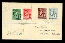 VIRGIN ISLANDS KG6 1938 REGISTERED FIRST DAY COVER...4 VALUES