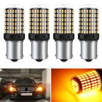 4x 1156 BA15S 3014 144SMD Fehlerfrei LED Auto Blinker Lampe Rücklicht Birne Set