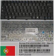 Clavier Qwerty PO Portugais MSI Wind U100 U110 V022322BK1 S1N-1EPT261-SA0 Black