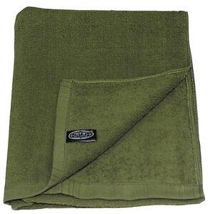Frottee Handtuch Duschtuch Tuch Outdoor Armee grün oliv 50x30 110x50 NEU