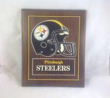 Pittsburgh Steelers Vintage Helmet Logo Plaque