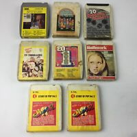 Bundle of 8 8-Track Cartridge Tapes, Job Lot - Mixed 60s,70s, Pop Hits etc Eight