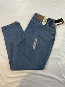 Vintage Lee Side Elastic Mom Jeans Women's Size 18 Short Tapered Leg. USA. *NWT*