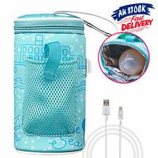 Baby Bottle Warmer Travel Heater Bag Pouch Portable Feeding Thermostat USB Milk