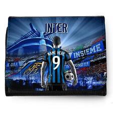 Fútbol Personalizado Inter de Milán Billetera Hombre Papá Navidad Regalo AF67