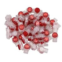 55 Pieces Gel Splice UR Connector 3 Port Wire Connectors Red+Clear E2A1