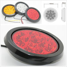 Truck Trailer RV 16LED Clear Lens Red Tail Light Back-up Reverse Lamp Waterproof