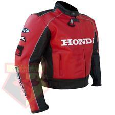 HONDA 5523 RED MOTORBIKE MOTORCYCLE BIKERS COWHIDE LEATHER ARMOURED JACKET