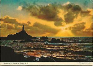 1980 Postcard - Sunset at La Corbiere, Jersey, Channel Islands