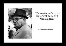 Vince Lombardi 4x6 Photo Print With Motivational Quote Football Super Bowl