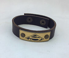New Superman Leather Bracelet Jewelry, Wrist Wrap, Genuine Leather
