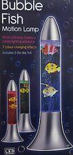 Novedad 40CM Lámpara de movimiento de peces de burbuja de cambio de color luz de estado de ánimo Niños Lámpara de Habitación