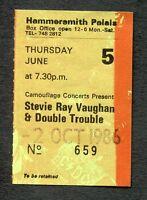 1986 Stevie Ray Vaughan Fabulous Thunderbirds concert ticket stub London UK