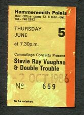 1986 Stevie Ray Vaughan Fabulous Thunderbirds concert ticket stub London UK