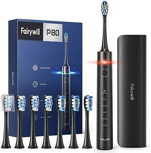 Electric Toothbrush with Pressure Sensor - Fairywill PRO P80 Quieter Sonic...