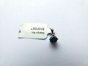 Gemporia/Gems TV 9ct White Gold 1/2ct Blue Diamond Pendant